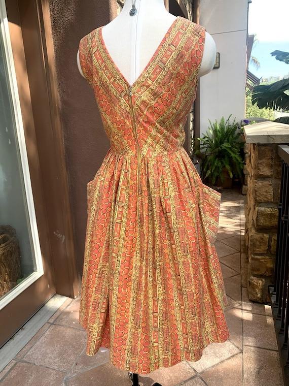 Vintage 1950's Novelty Print Dress - image 7