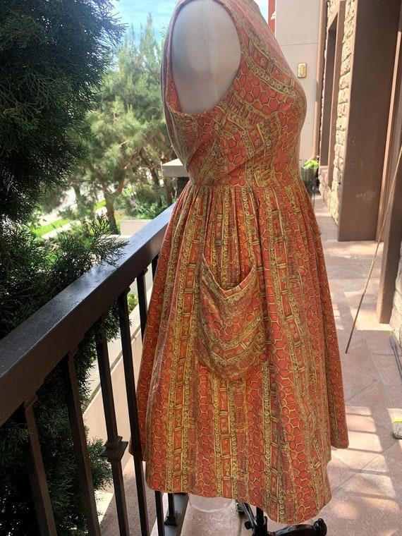 Vintage 1950's Novelty Print Dress - image 4