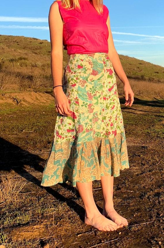 Gorgeous Novelty Print 1940's Skirt - image 1