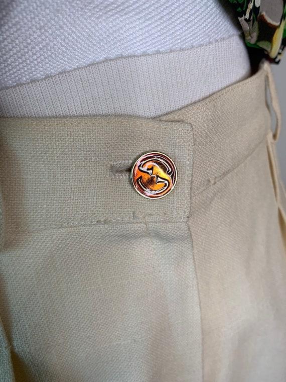 Vintage 70's Gucci Linen Trousers - image 10
