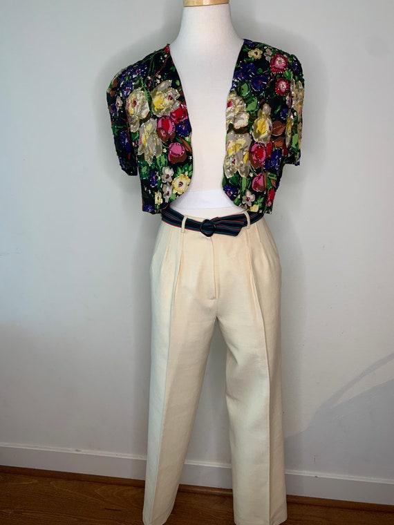Vintage 70's Gucci Linen Trousers - image 9