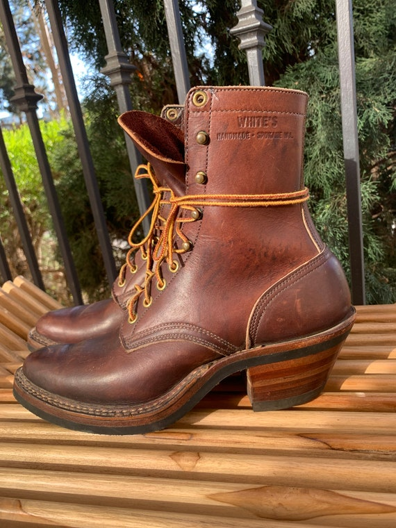 """Vintage 1970's Leather """"White's"""" Boots"""