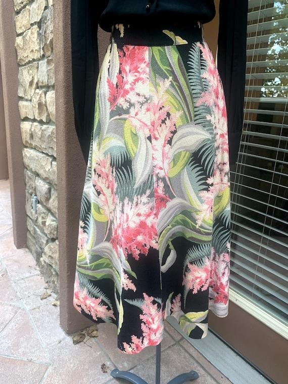 Vintage 1950's Hawaiian Barkcloth Skirt - image 6