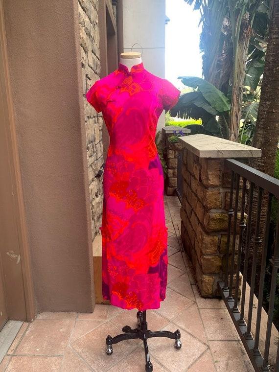 Vintage 1960's Cheongsam Dress