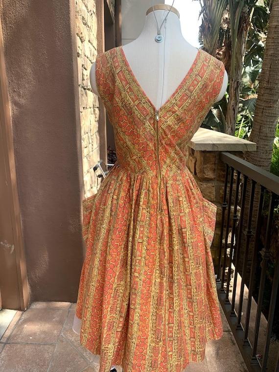 Vintage 1950's Novelty Print Dress - image 6