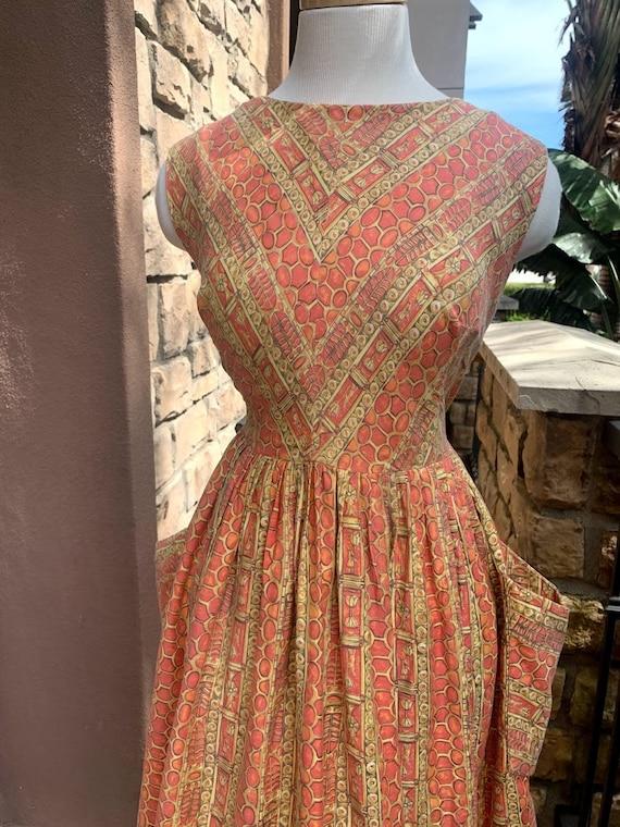Vintage 1950's Novelty Print Dress - image 2