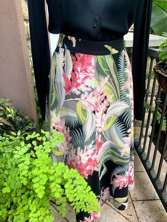 Vintage 1950's Hawaiian Barkcloth Skirt - image 10