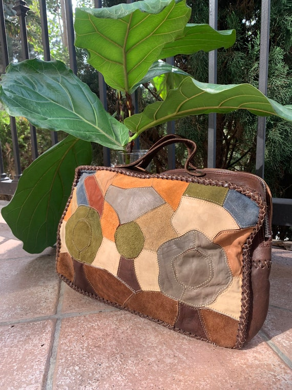 Vintage 1960's Whipstitch Leather Purse