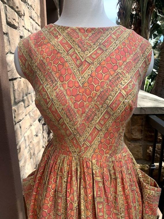 Vintage 1950's Novelty Print Dress - image 3