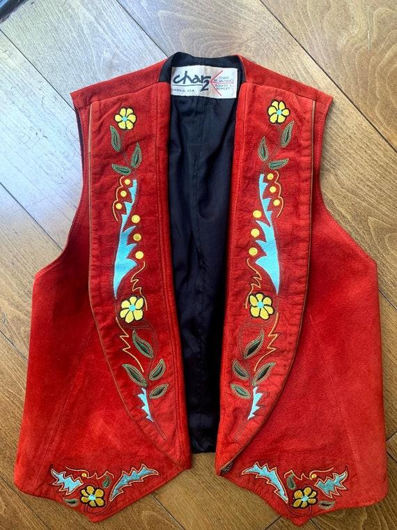 Vintage 1970's Char 2 Suede Vest