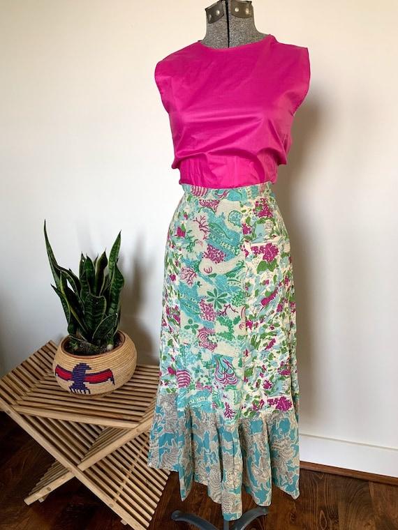 Gorgeous Novelty Print 1940's Skirt - image 4