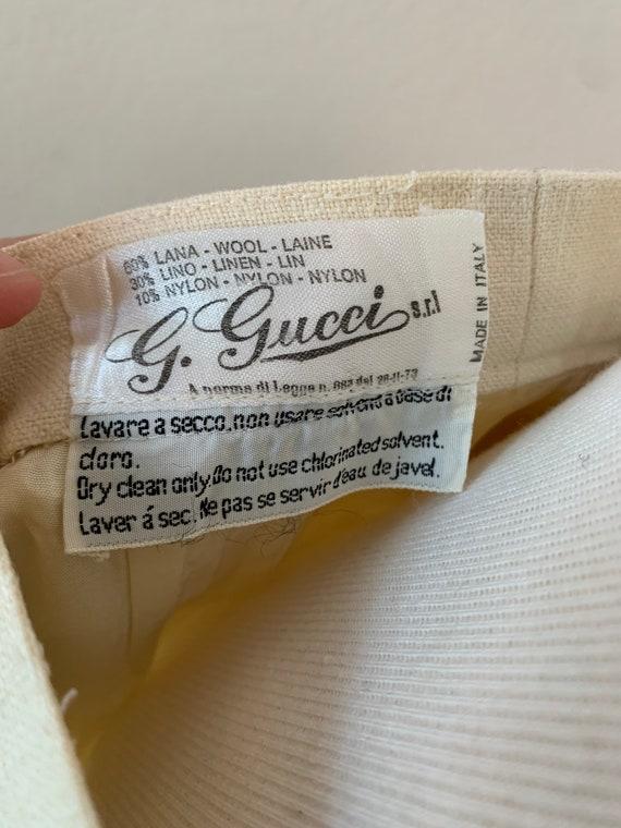 Vintage 70's Gucci Linen Trousers - image 2