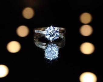 Diamond Engagement Ring- Tiffany Setting