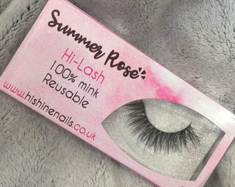 Summer Rose 100% Mink Lashes | Reusable Strip Lashes