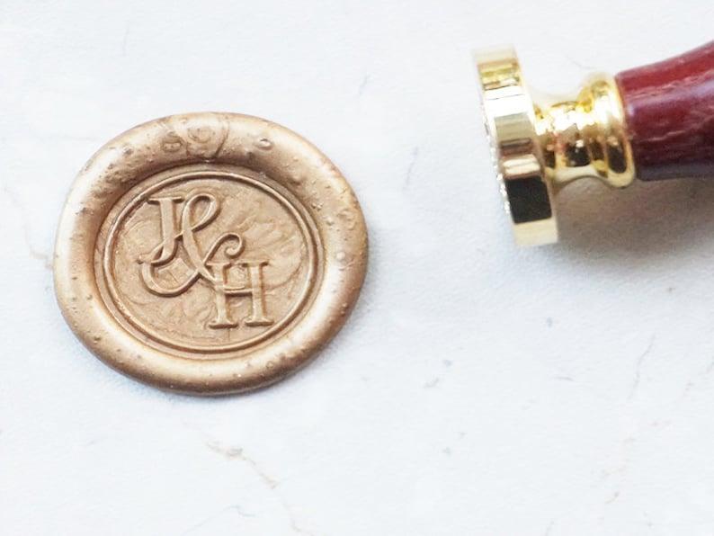 Custom Initials Wedding Wax Seal Stamp  Wedding Seal Stamp kit Wedding Invitation Letter Metal Stamp L161