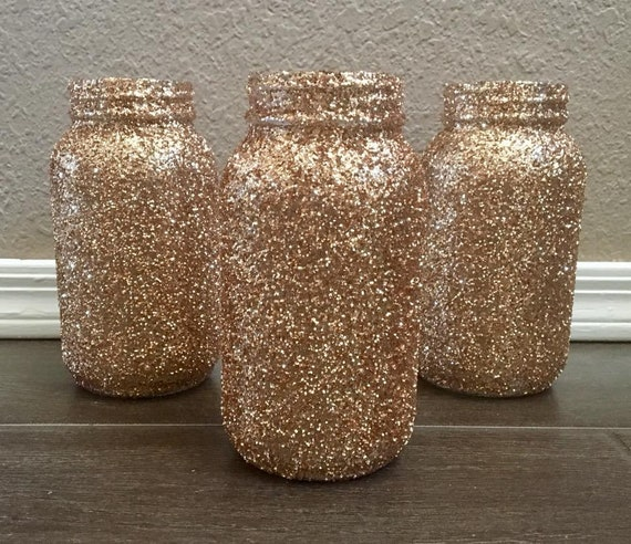 Glitter Mason Jars Centerpieces Quart Baby Shower Decor Etsy
