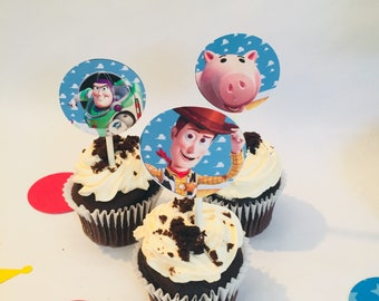 Cupcake Toppers, Toy Story cupcake toppers, Toy Story party decorations, Toy story birthday, Toy story favors,