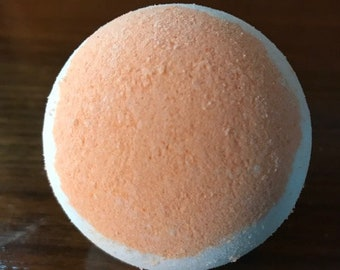 Coconut Mango Bath Bomb / 6.5 oz Orange and White Bath Bomb / Luxury Gift for Her / Best Bath Bombs/ Shower Favors / Relaxation Gifts/