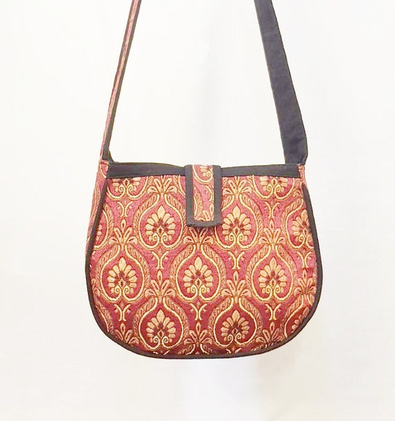Red Handmade Woven Cotton Bohemian Shoulder Bags Naka Fabric  267826979ddab