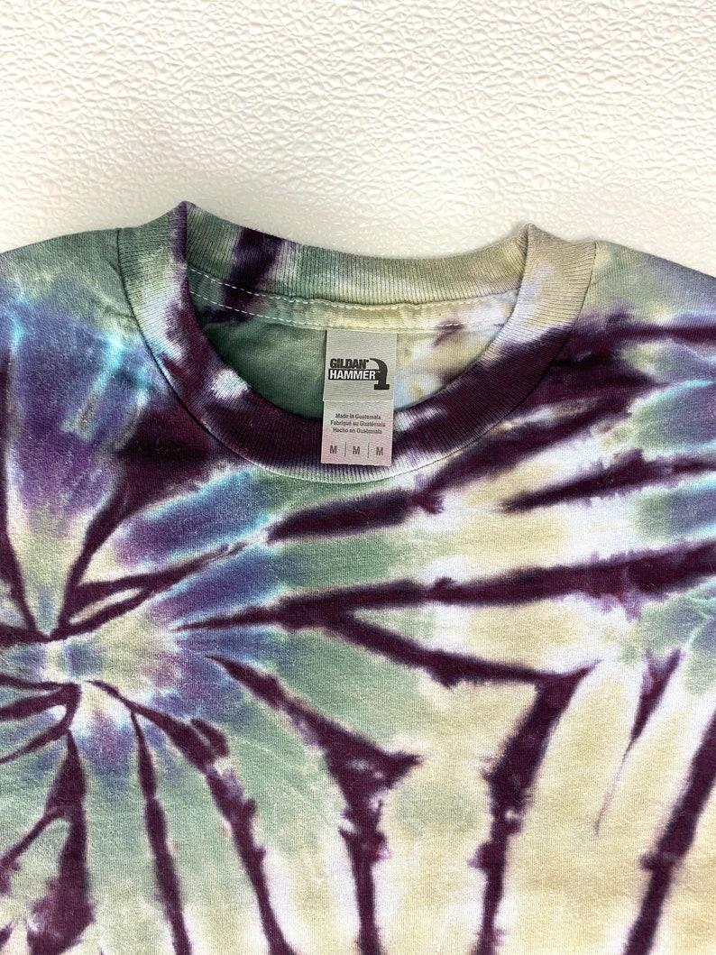 Size Unisex Medium Double Spiral Earth Tones T-shirt Long Sleeve