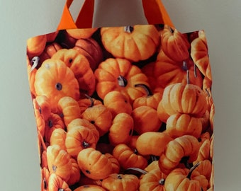 Pumpkin Cotton Reusable Lined Bag