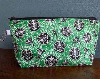 6cf1030625f Starbucks Canvas Zippered Pouch/Pencil Case/Project Bag