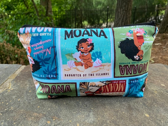 cards Disney Moana zipper pouch- Available in 6 sizes- Perfect for cash makeup pencils /& supplies- Eco friendly