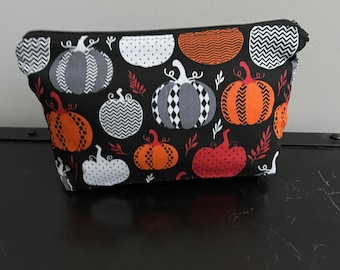 Halloween Pumpkins Zippered Pouch/Pencil Case/Makeup Bag