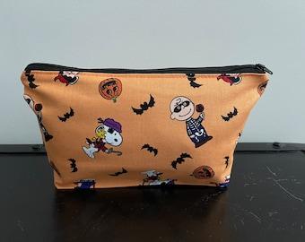 Peanuts Halloween Zippered Pouch/Pencil Case/Makeup Bag