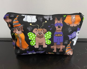 Halloween Dogs Zippered Pouch/Pencil Case/Makeup Bag