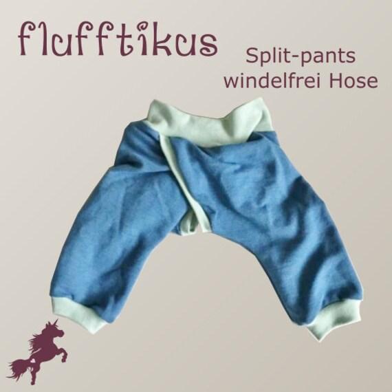 flufftikus Abhaltehose Split-pants Nähanleitung und | Etsy