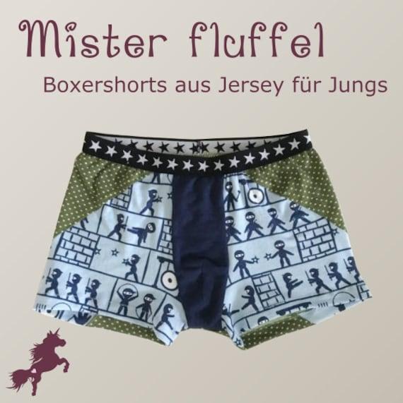 Mister fluffel Boxershorts/Unterhose für Jungs Schnittmuster | Etsy