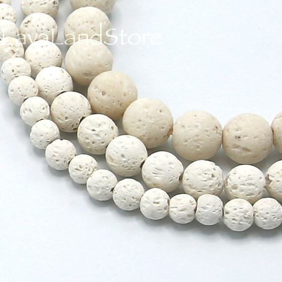 Pcs Dyed Gemstones Jewellery Making Lava Rock Stone Round Beads 8mm Mixed 40
