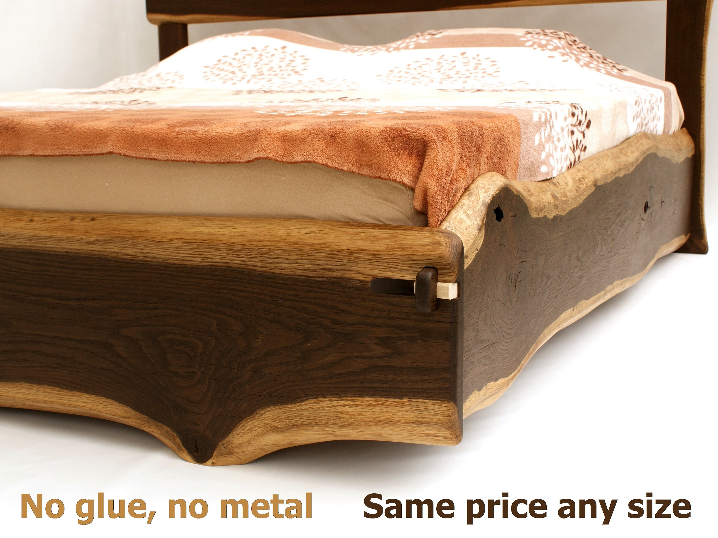 Live Edge Bed Any Size Double Queen King Superking Californiaking