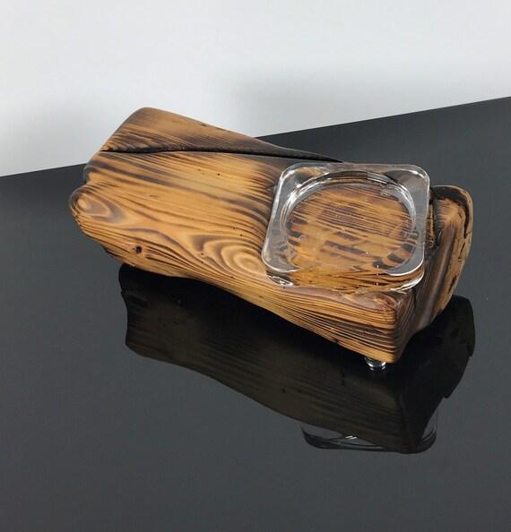 Kerzenhalter Digitaldruck Individuell Kerze Halter Holz Natur Glas Edel Modern Geflämmt Extravagant Weihnachten Baum Stern