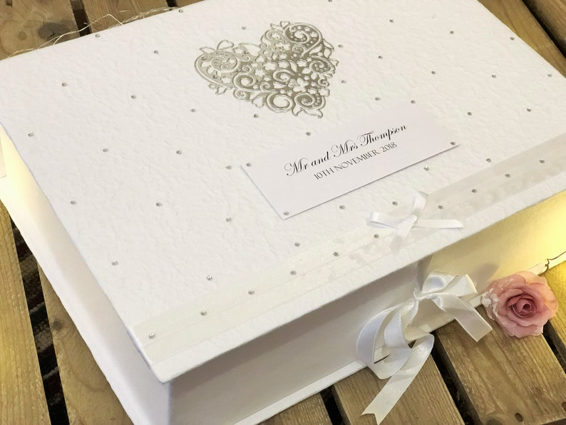 Personalised Wedding Memory Keepsake Box Luxury Extra Large Size Bride Gift