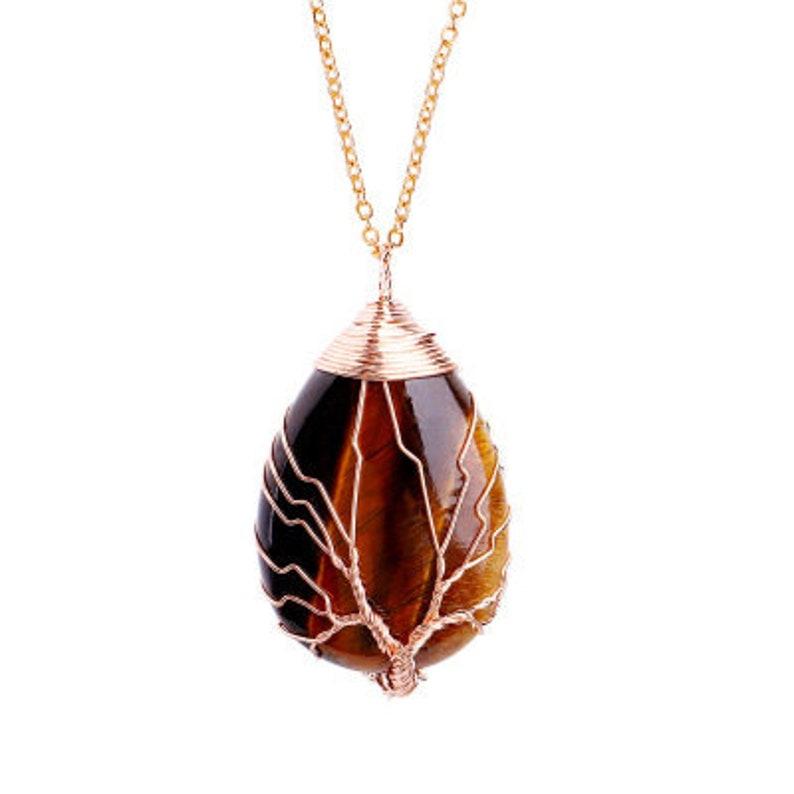 Rose Quartz Necklace Mother/'s gift Black Tourmaline Pendant Healing Crystals Stone Necklace Amethyst Crystal Necklace UK Stone Pendant