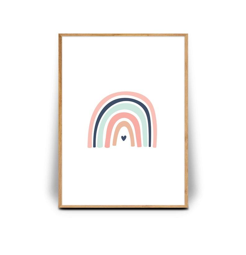 Nursery Print Rainbow Nursery Wall Art, Rainbow print EarthyTones Nursery Wall d\u00e9cor Wall decor Wall art print Printable wall art