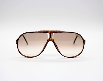 a4af9aca3ba Vintage Sunglasses Carrera 5590 C-Vision by Optyl Aviator Oversize  authentic and rare sunglasses Made in Austria