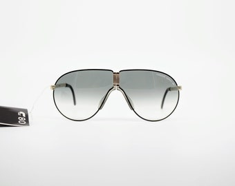 f929950047ea57 Vintage Sunglasses Porsche Design 5622 Folding by Carrera Aviator Mask  authentic and rare sunglasses Made in Austria