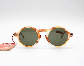 69bc92c31e953 Vintage Sunglasses Persol Ratti 653 Meflecto authentic and rare round frame  with original lenses Made in Italy NEW OLD STOCK