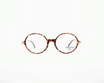 251eb7d0a892e Vintage Eyewear Valentino V 186 authentic and rare hand made pantos round  frame wiht demo lenses Made in Italy New Old Stock