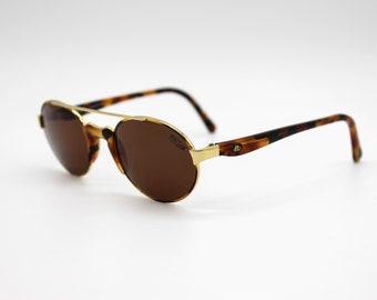 New Old Stock 1990s FL 105 023 FREE LAND mod Vintage eyeglass frame golden /& tortoise