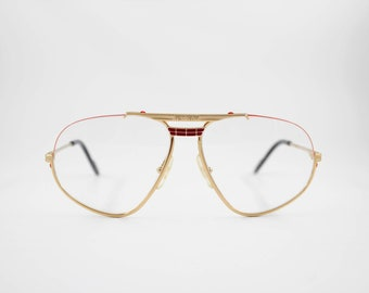 0840a54326ee5 Vintage Eyewear frame Ferrari F 2 authentic and rare Aviator Nylor  eyeglasses wiht demo lenses Made in Italy New Old Stock