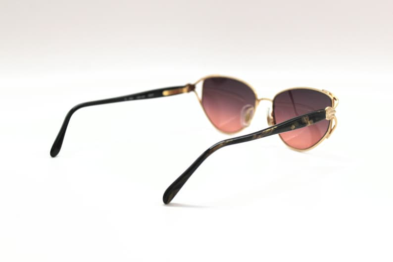 Vintage Sunglasses Ted Lapidus TL 704 Cat eye Clubmaster Rockabilly style Made in France New Old Stock