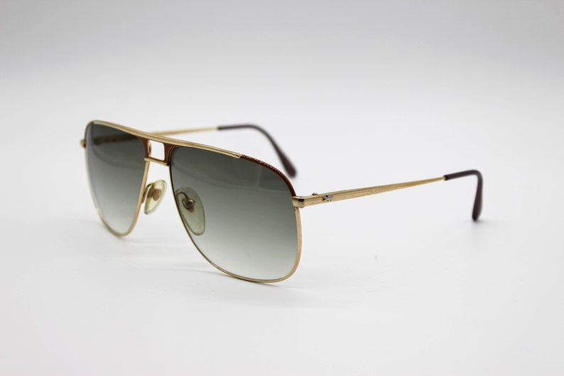 Vintage sUNglasses Lacoste 711 f Aviator Caravan with elastic temple Made in France NOS