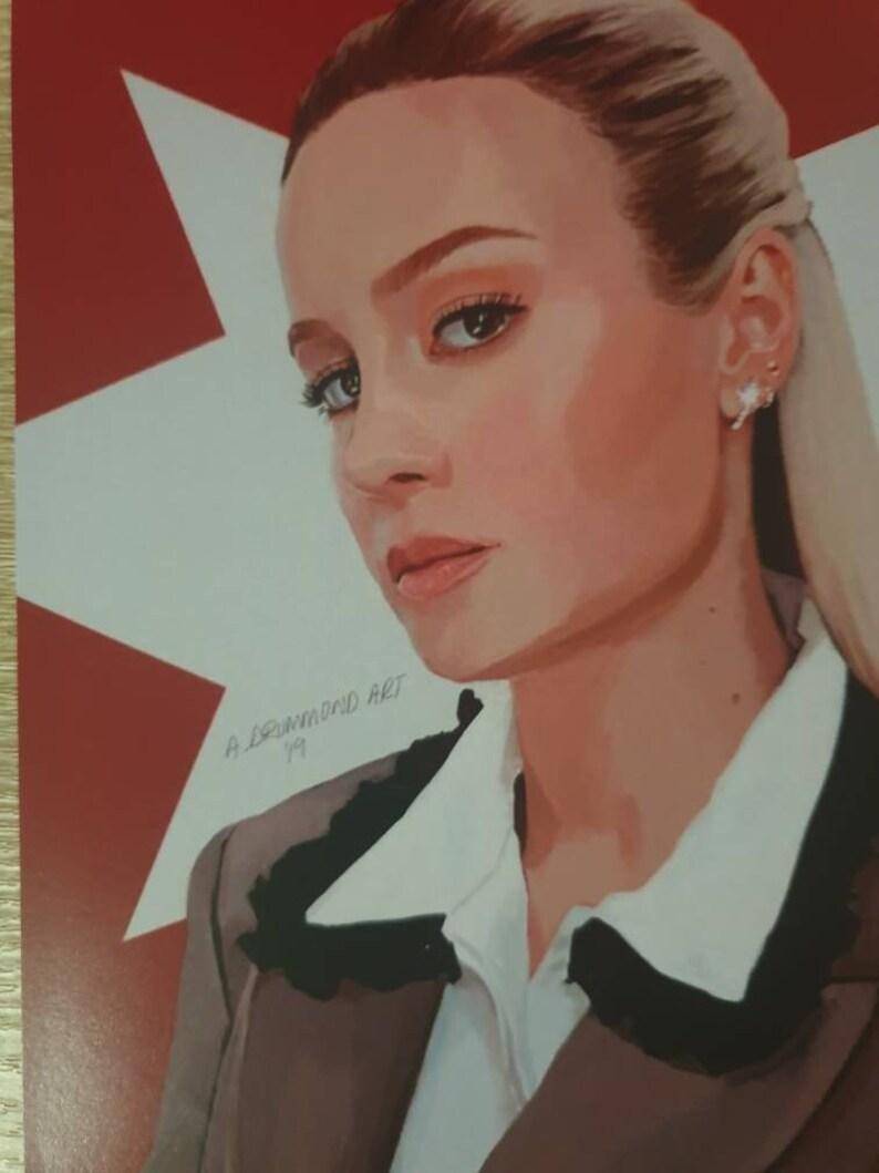 Brie LarsonCaptain Marvel Art Print