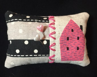Pink House pincushion