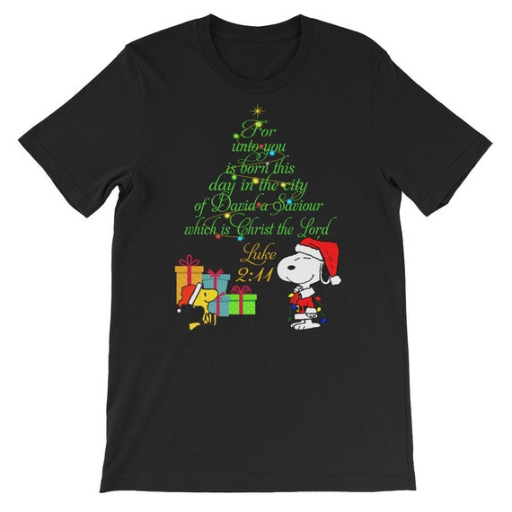 Snoopy Christmas Tree T-shirt for Men - S to 4XL
