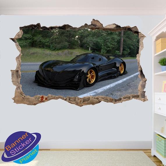 POWERFUL SPORT CAR ENGINE WALL STICKER 3D ART POSTER MURAL DECAL ROOM DECOR XY1